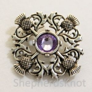 New Scottish Thistle Brooch Pin Celtic Outlander